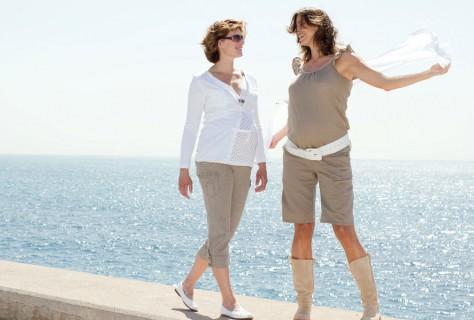 Чтобы беременные выглядели стройнее, выбираем правильно одежду