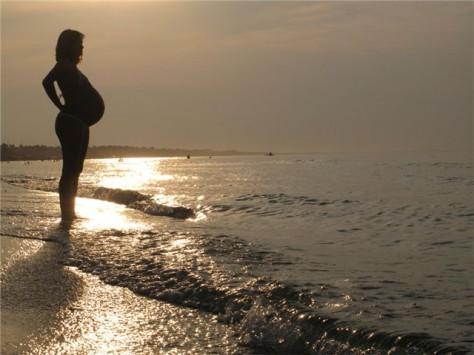 Беременная на море?