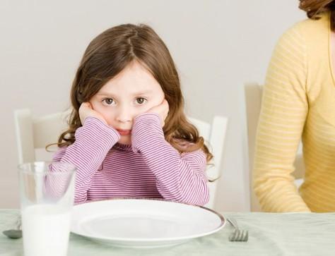 Как зависит поведение ребенка от размера еды в тарелке