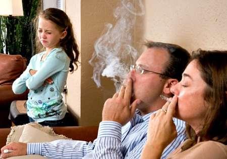 Пассивное курение негативно влияет на умственное развитие детей