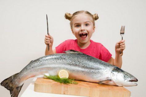 Употребление рыбы повышает интеллект у детей