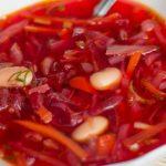 Борщ с фасолью – рецепт приготовления