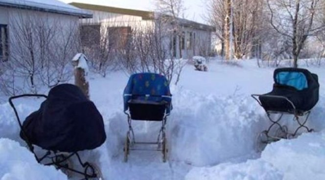 Коляски с детьми нужно оставлять на улице даже в мороз