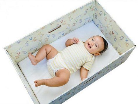 Модные коробки для младенцев бесполезны