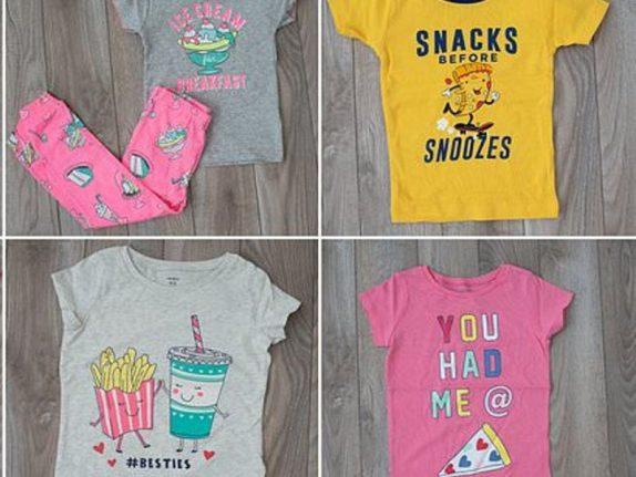 Картинки фастфуда на детской одежде приводят к ожирению