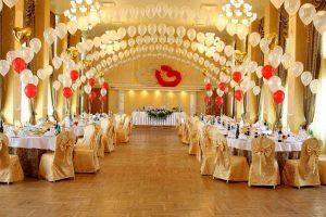 Украшение зала для свадебного торжества