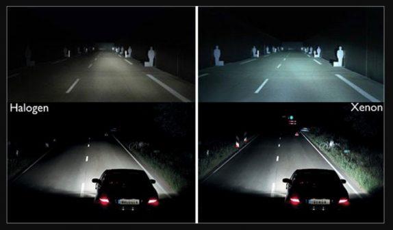 Изменение освещения автомобиля